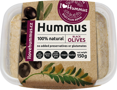Hummus Black olives